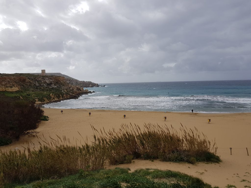 Best things to do in Malta and Gozo - Have a swim in Golden Beach Malta