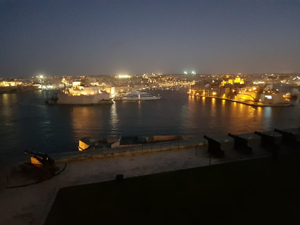 Best things to do in Malta and Gozo - Visit Valletta at night, Malta The Saluting Battery