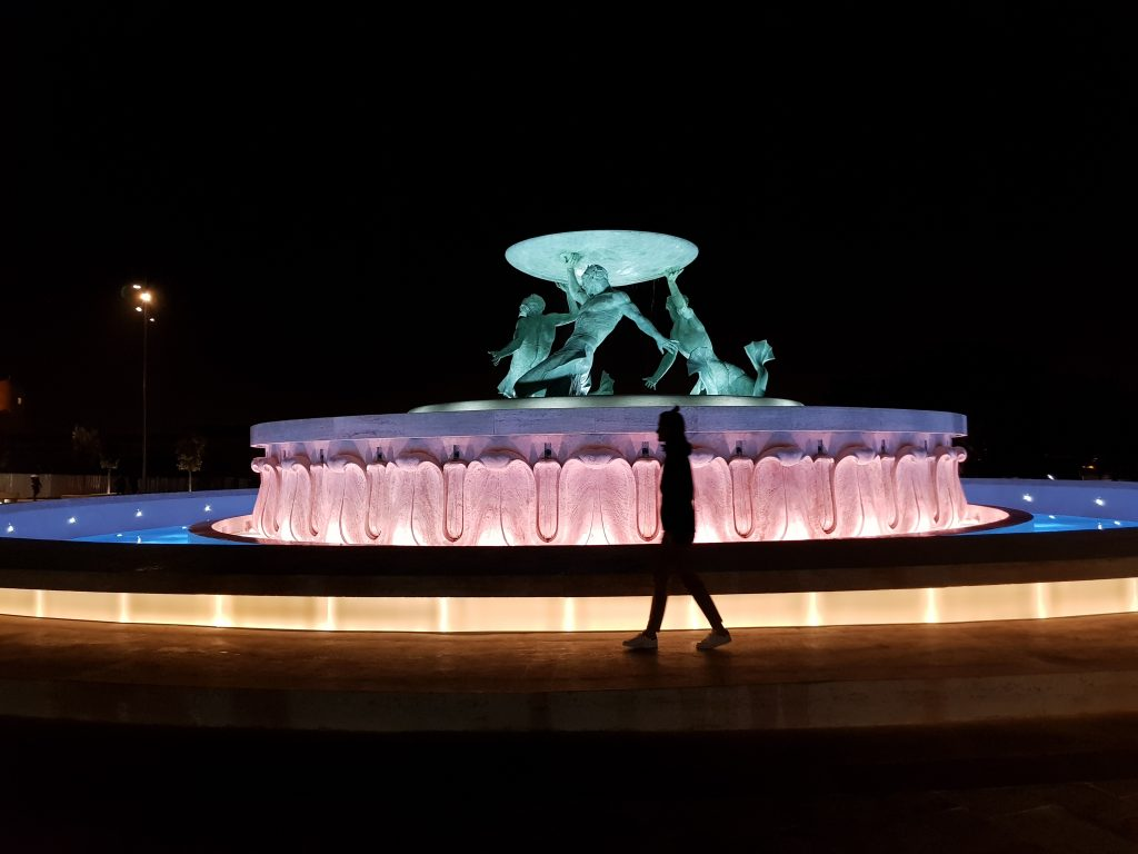 Best things to do in Malta and Gozo - Visit Valletta at night - Malta Triton Fountain