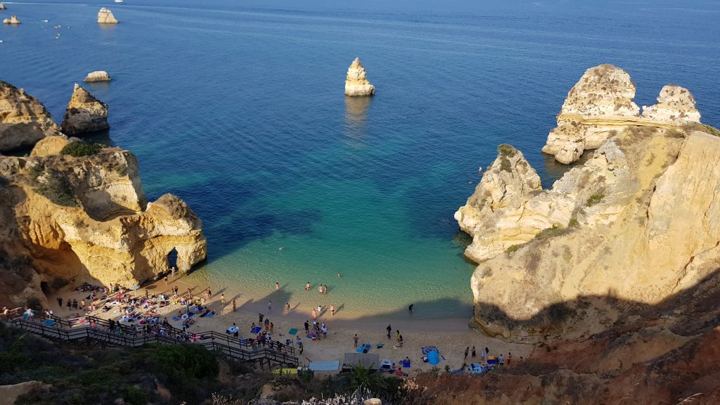 Best beaches near LAGOS - Praia do Camilo Portugal