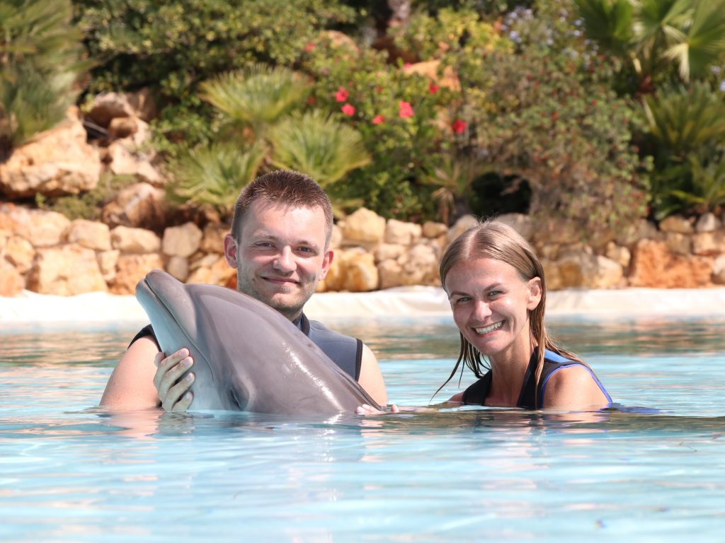 Things to do in Algarve Portugal - Visit Zoomarine and swim with dolphins!
