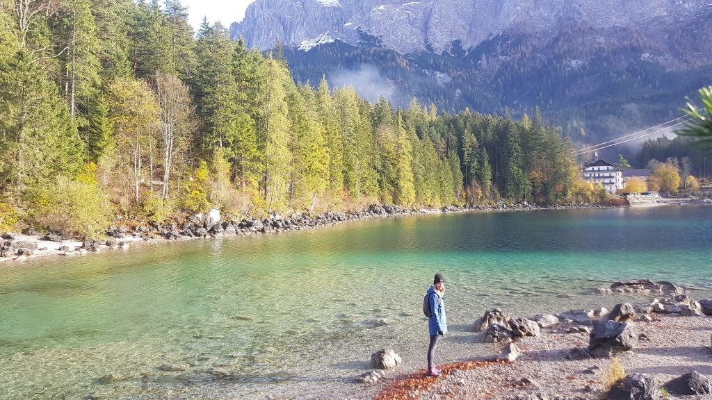 Eibsee Lake in Germany Bavaria -hike around the lake -fabulous views