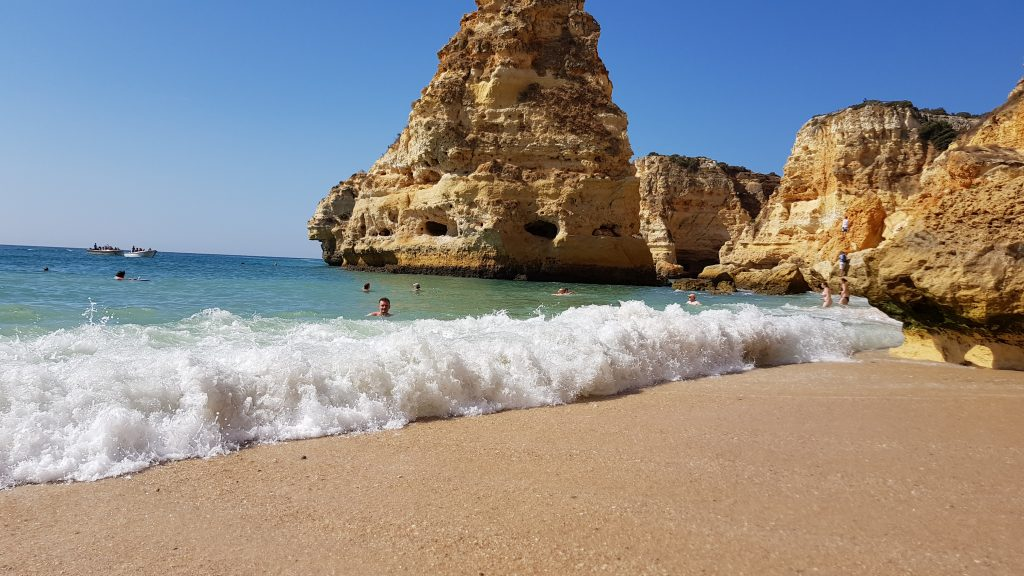 Beast beaches in Algarve - Best beaches near PORTIMAO - Praia de Marinha Algarve