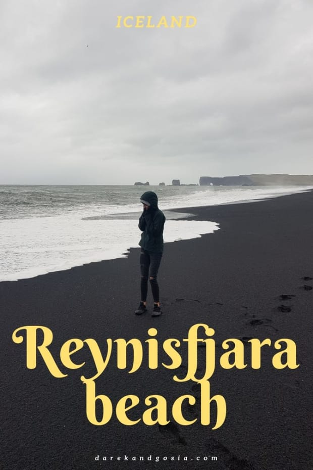 Reynisfjara black-sand beach in Iceland