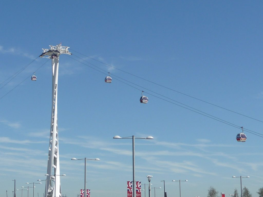 Things to do in London - Emirates Cable Cars