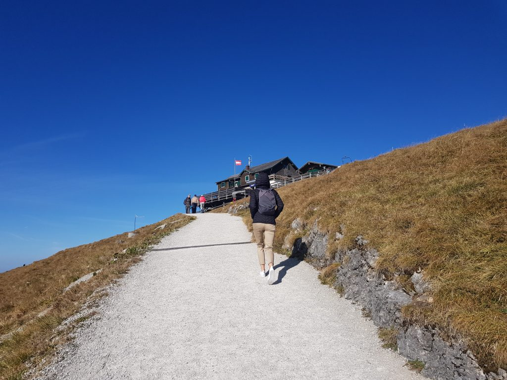 Hiking to Schafberg Mountain