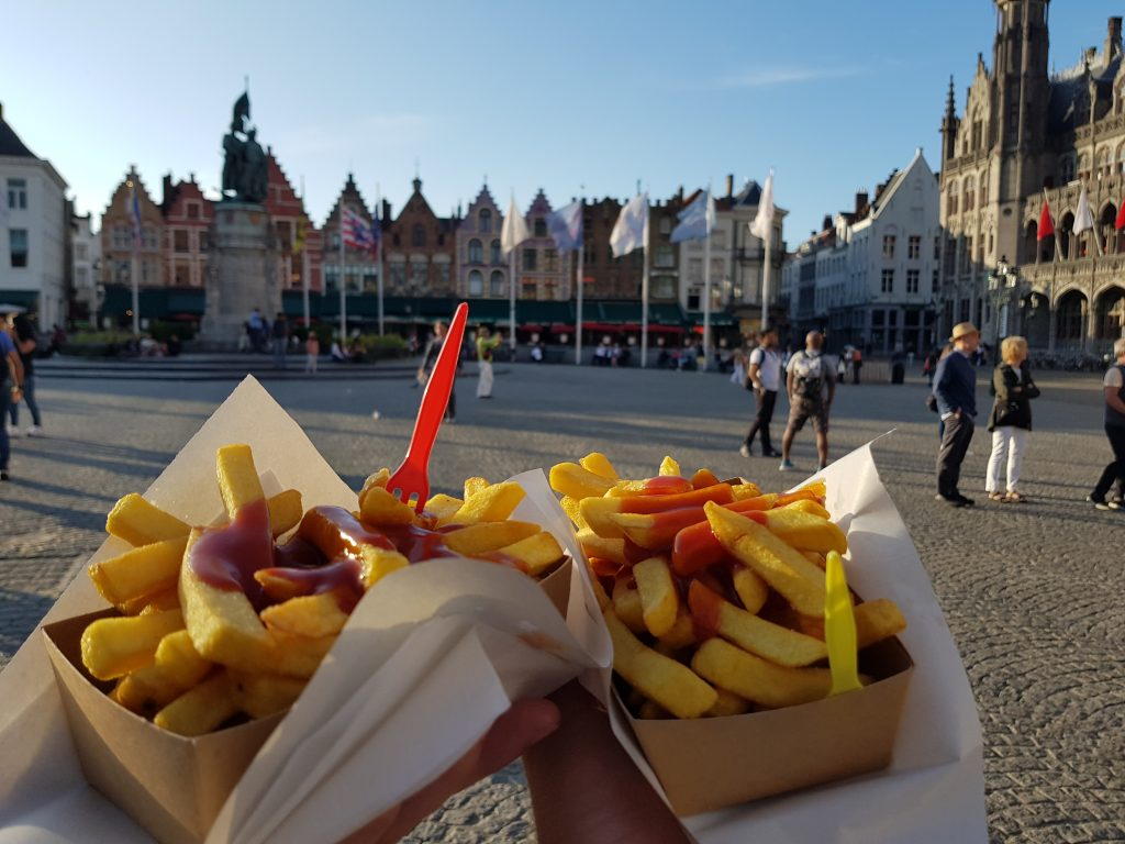 Eat Belgian fries