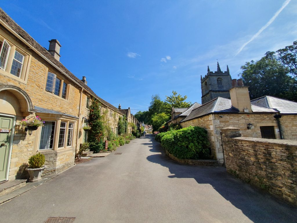 What was filmed in Castle Combe