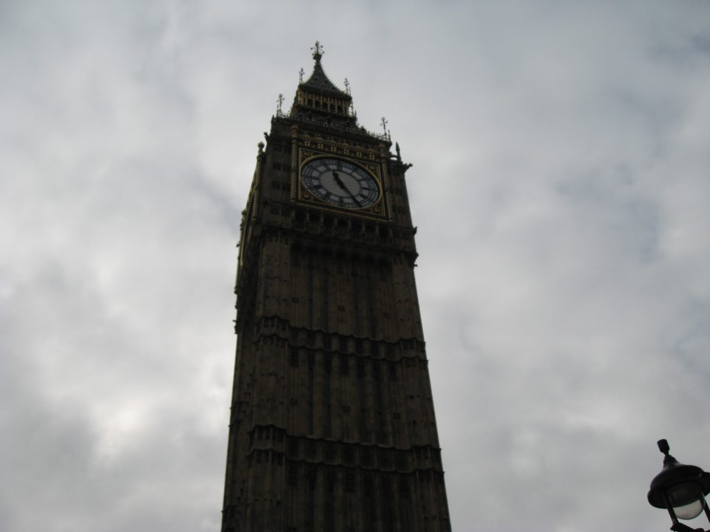Famous landmarks in London - Big Ben
