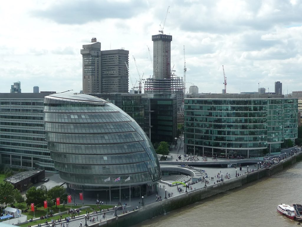 Famous landmarks in London - City Hall
