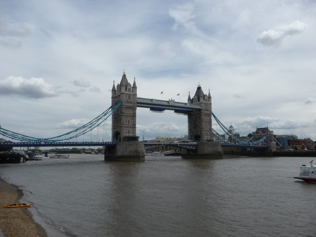 Famous landmarks in London - Tower Bridge