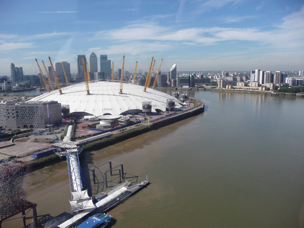 Landmarks in London - O2 Arena