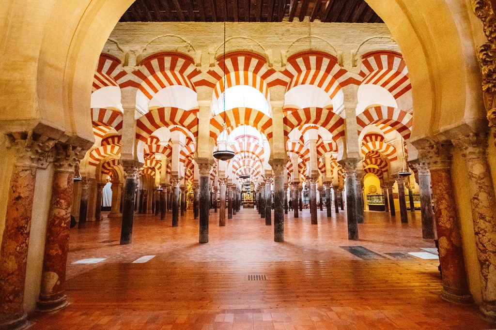 Mezquita - unique places to visit in Spain