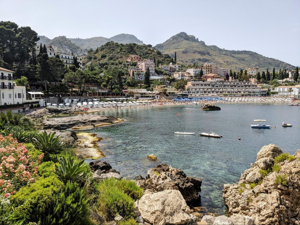 Where is warm in April in Europe - spring in Sicily