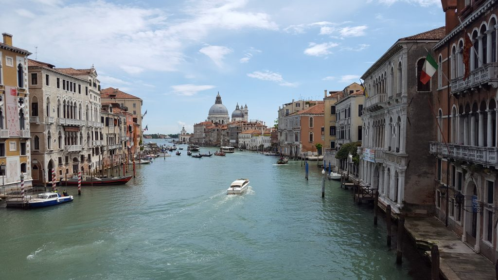 Where is warm in April in Europe - spring in Venice