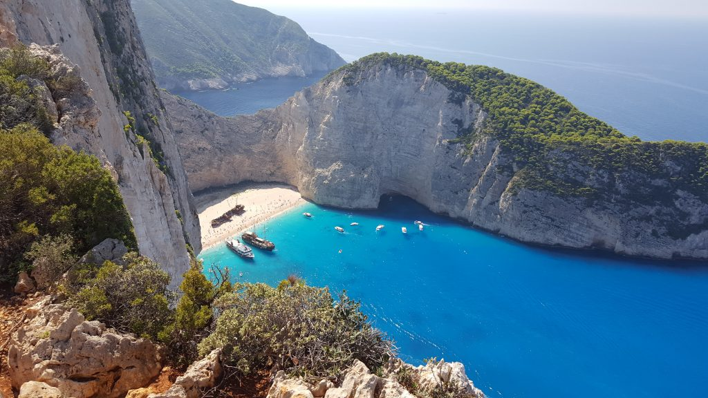 Natural wonders in Europe - Navagio Beach, Greece