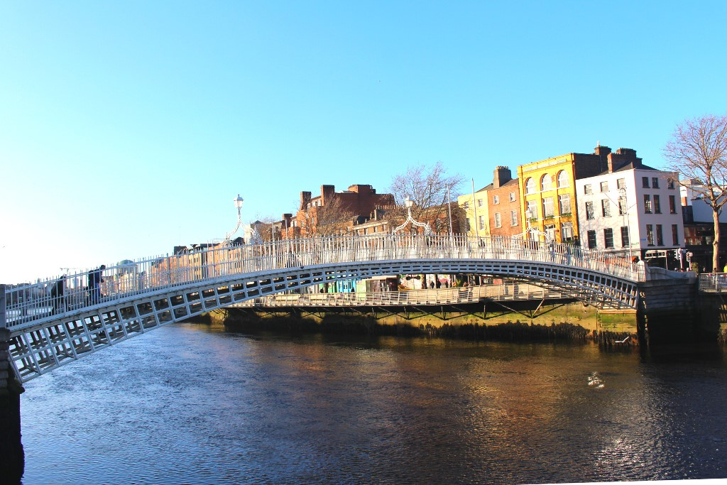 Famous bridges in Europe - Ha'penny Bridge - Dublin, Ireland