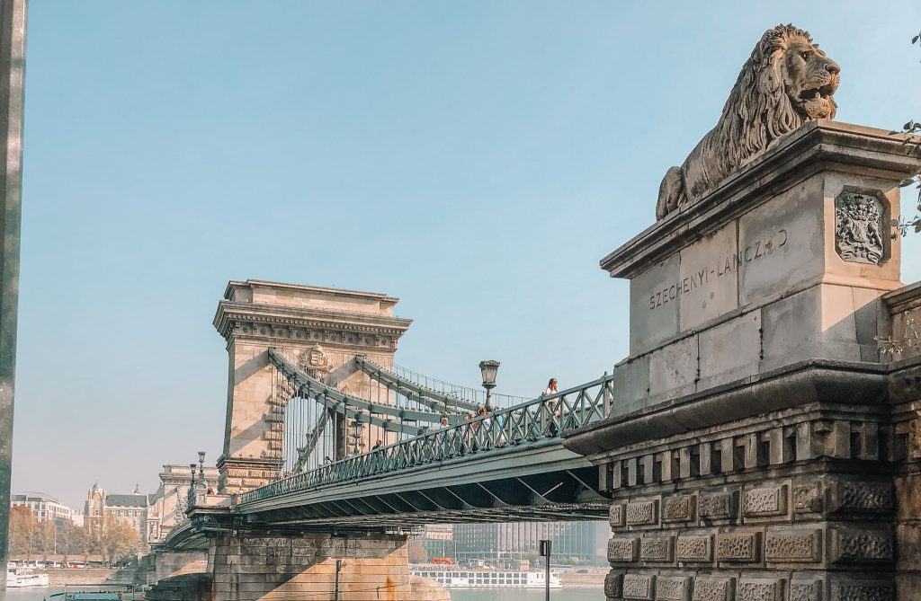 Famous bridges in Europe - Széchenyi Chain Bridge - Budapest, Hungary