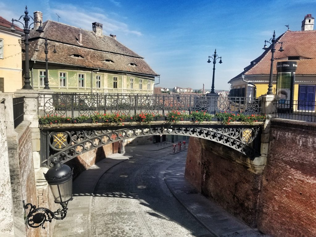 Famous bridges in Europe - The Bridge of Lies - Sibiu, Romania