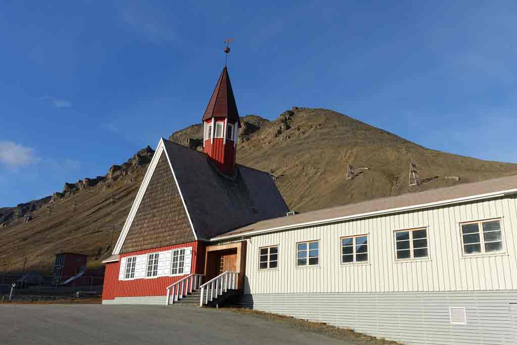 Most beautiful European churches - Svalbard Church - Longyearbyen in Svalbard, Norway