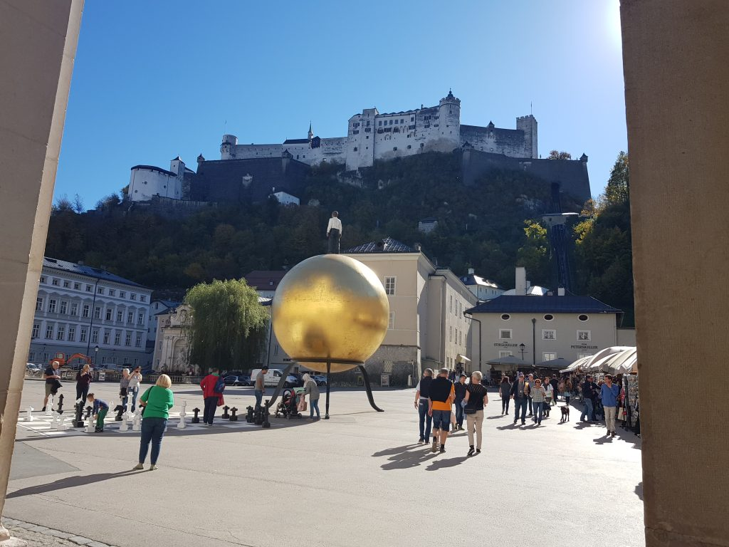 Beautiful squares in Europe - Kapitelplatz, Salzburg