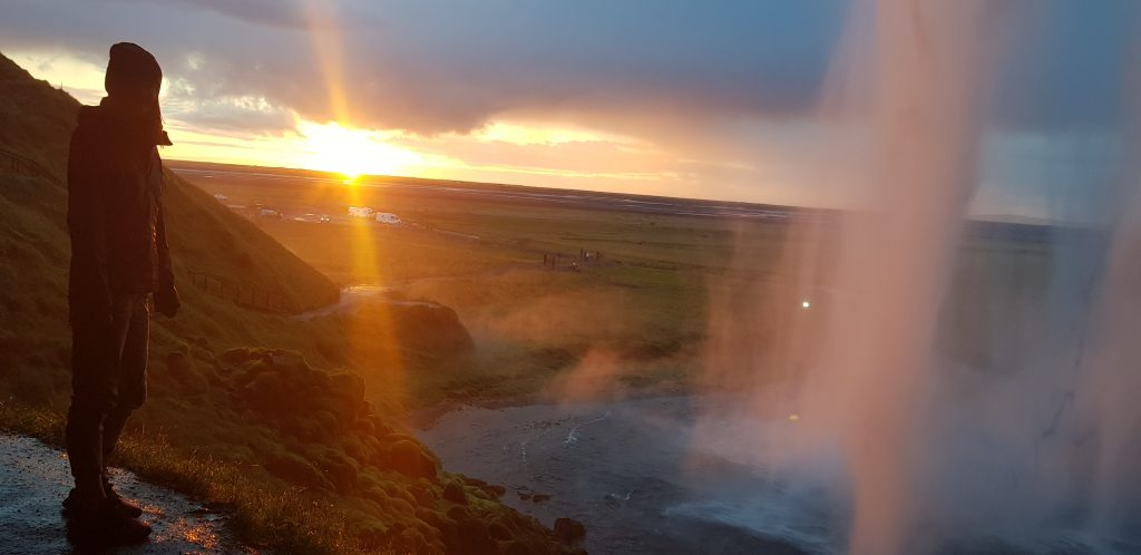 Best places to watch the sunset near me - Seljalandsfoss, Iceland