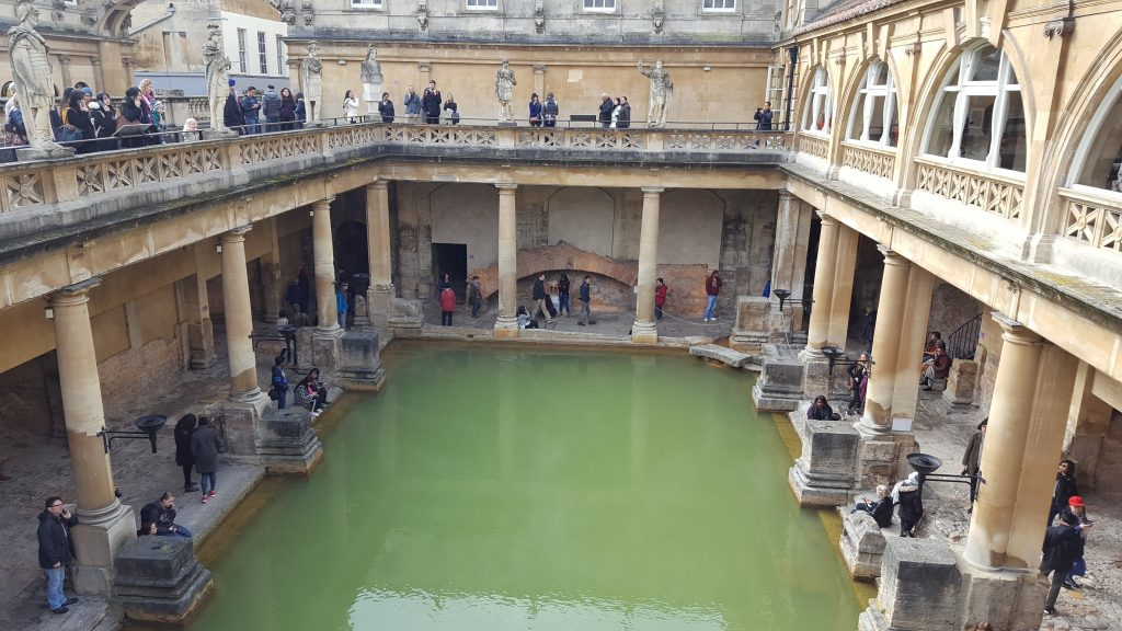Famous landmarks in England - The Roman Baths