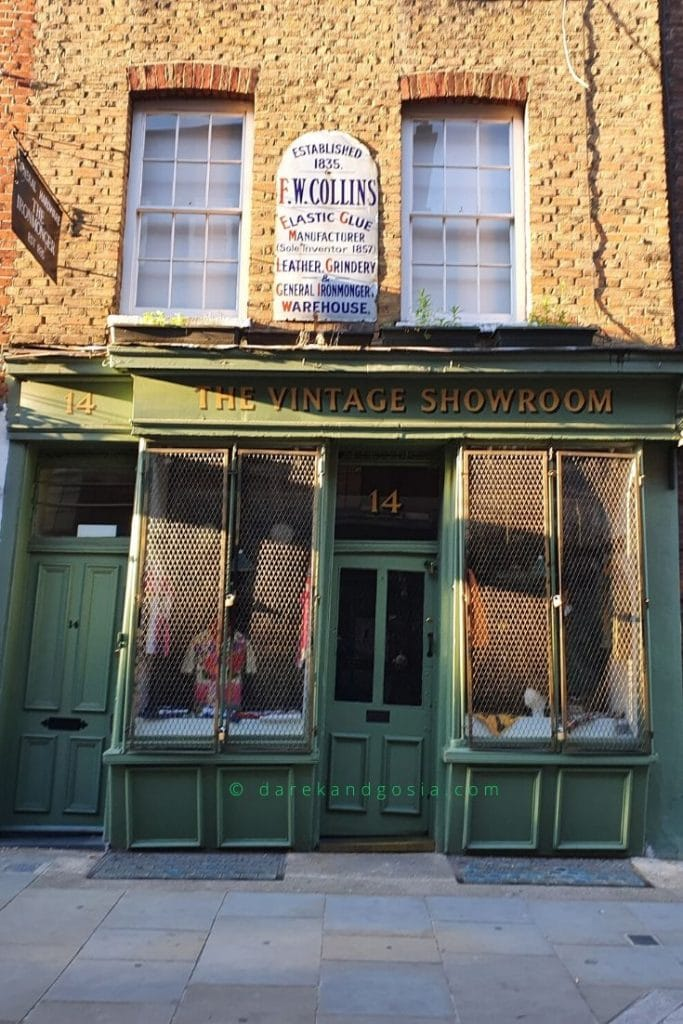 Things to do in Covent Garden London - The Vintage Showroom