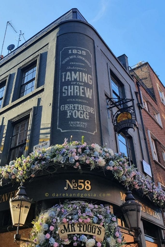 Things to do in Covent Garden - Mr Fogg's Tavern
