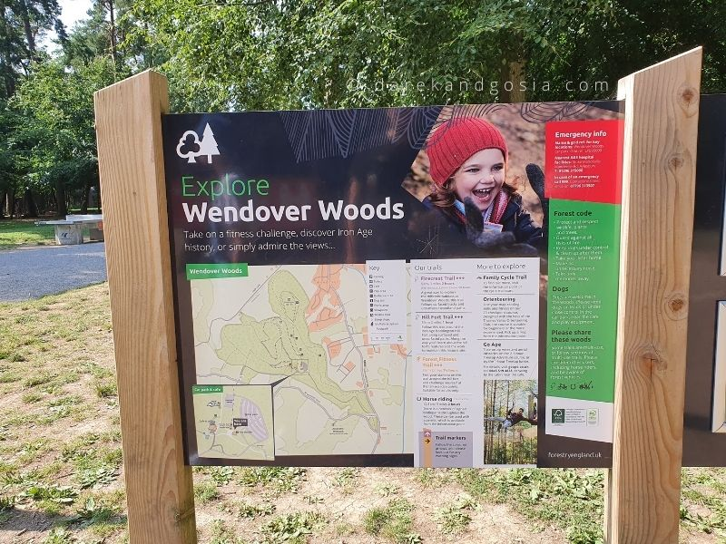 How far is Wendover Woods from London