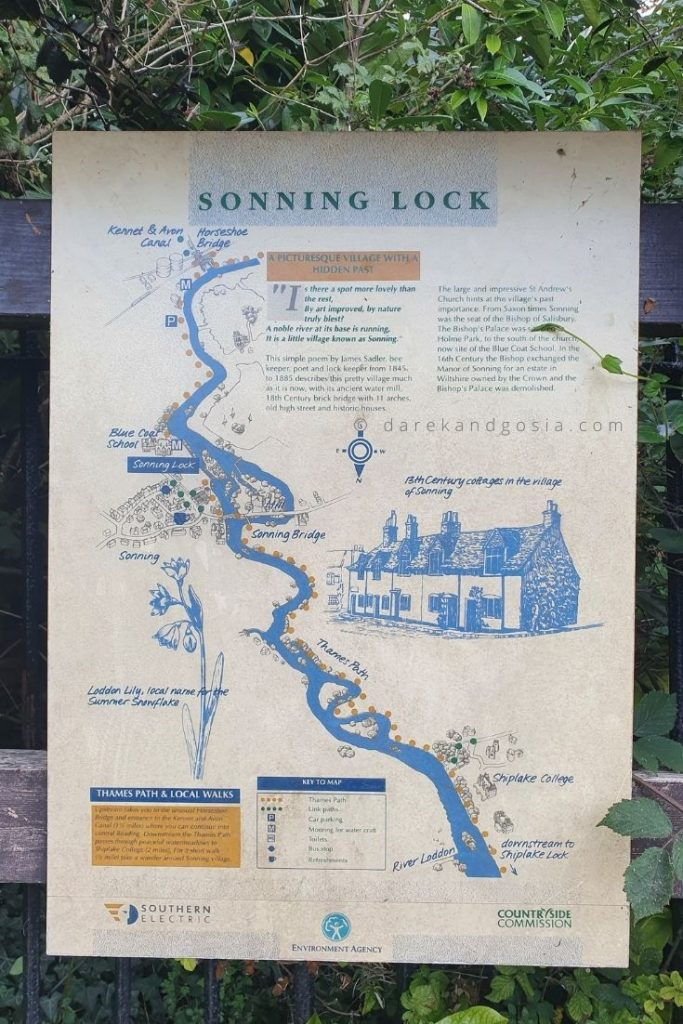 Sonning on Thames Berkshire - Blue Water Walk