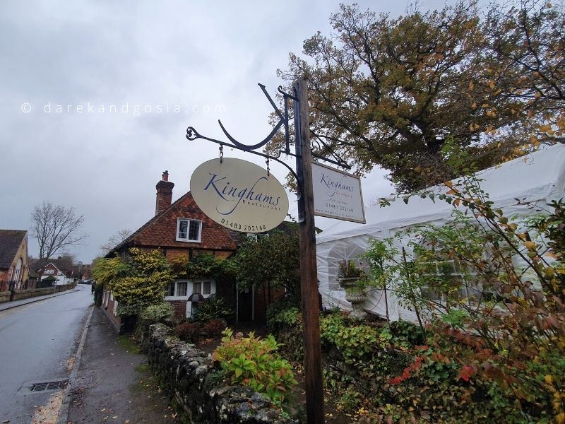 What to see in Shere Surrey - Kinghams Restaurant