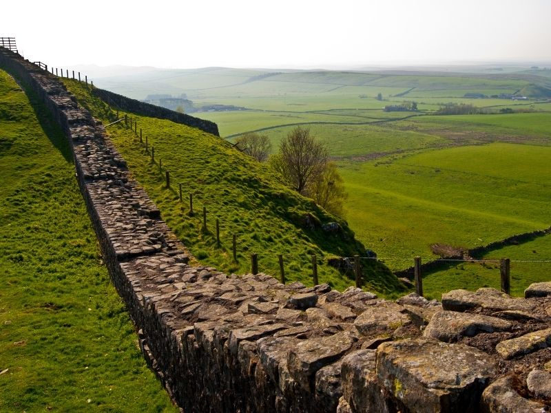 Beautiful places in England - Hadrian's Wall