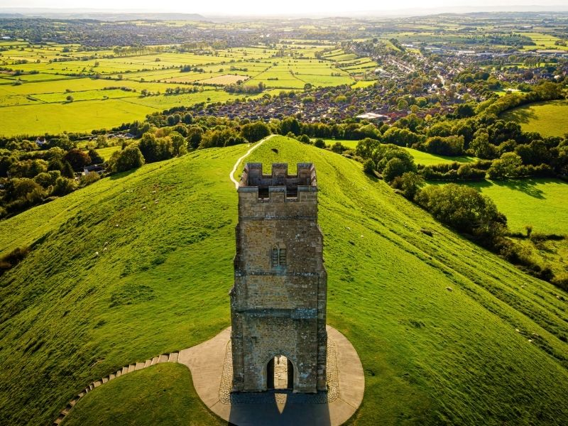 Famous buildings UK - Glastonbury Tor
