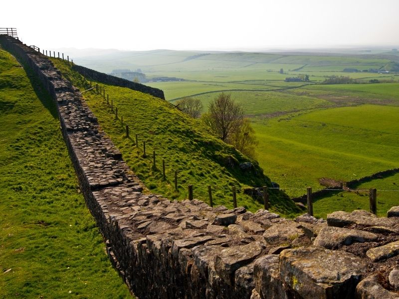 Famous landmark in UK - Hadrian's Wall