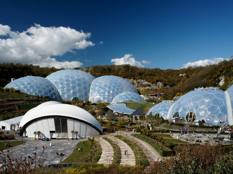 Famous landmarks in United Kingdom - Eden Project