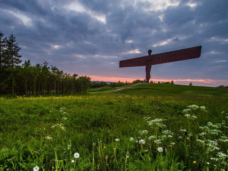 Famous landmarks in the United Kingdom - Angel of the North