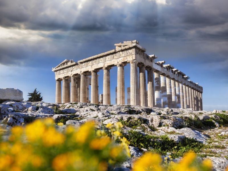 Hot places in March in Europe - Athens