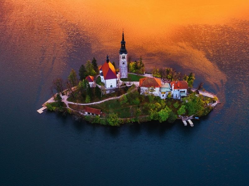 Romantic destinations in Europe - Bled