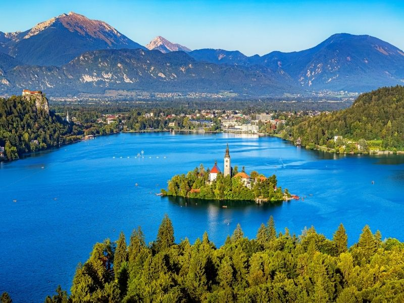 Small islands in Europe - Bled Island